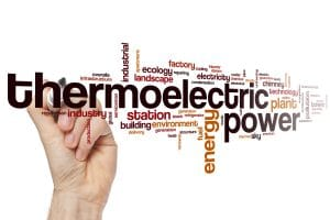 Thermoelectric power word cloud concept