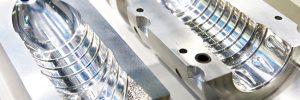 Metal molds for making plastic bottles
