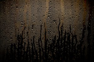 condensation water droplets in a window