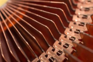 Close up of CPU computer heat sink.